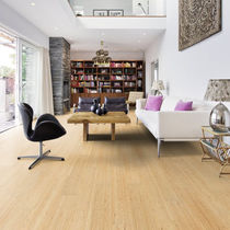 Solid wood flooring / glued / birch / lacquered