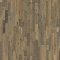Solid wood flooring / glued / oak / brushed