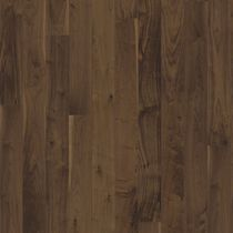 Solid wood flooring / glued / walnut / lacquered