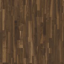 Engineered wood flooring / glued / walnut / lacquered