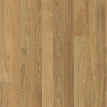 Solid wood flooring / glued / oak / matte