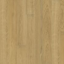Solid wood flooring / glued / oak / brushed