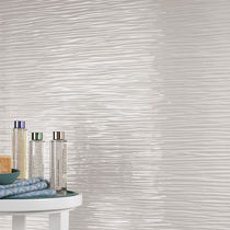 Wall tile / porcelain stoneware / wave pattern / matte