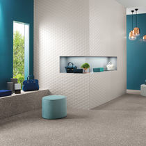 Indoor tile / wall / porcelain stoneware / geometric pattern