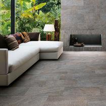 Floor tile / porcelain stoneware / matte / stone look