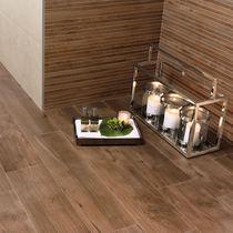 Floor tile / porcelain stoneware / matte / parquet look
