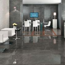 Floor tile / porcelain stoneware / matte / marble look