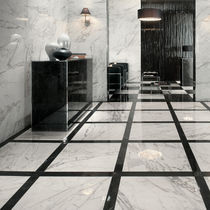 Floor tile / porcelain stoneware / polished / marble look