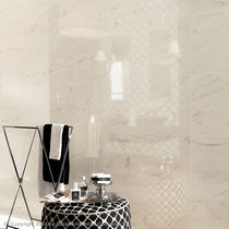 Bathroom tile / floor / ceramic / high-gloss