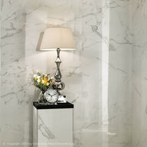 Wall tile / porcelain stoneware / matte / marble look