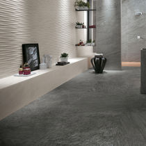 Wall tile / porcelain stoneware / plain / textured