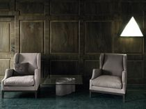 Contemporary armchair / fabric / wing / by Piero Lissoni