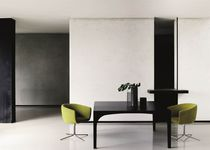 Contemporary armchair / in textile / swivel / by Piero Lissoni