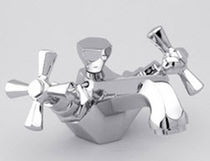 Washbasin double-handle mixer tap / chrome / for bathrooms / 1-hole