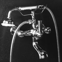 Bathtub mixer tap / wall-mounted / chrome / for bathrooms