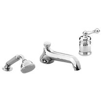 Bathtub mixer tap / chrome / for bathrooms / 3-hole