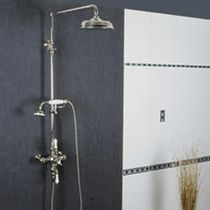 Wall-mounted shower set / traditional / thermostatic