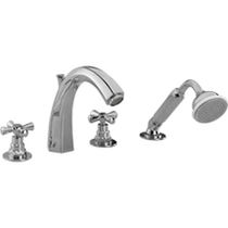 Shower double-handle mixer tap / for bathtubs / chrome / for bathrooms