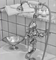Bathtub mixer tap / chrome / thermostatic / for bathrooms