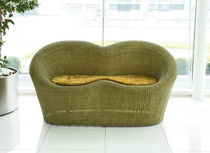 Contemporary sofa / rattan / wicker / 2-seater