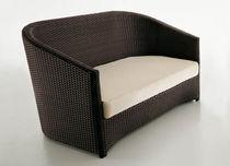 Contemporary sofa / garden / resin wicker / 2-seater