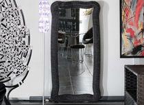 Wall-mounted mirror / contemporary / rattan