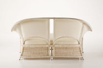 Contemporary sofa / rattan / wicker / fabric
