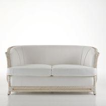 Traditional sofa / rattan / fabric / 2-seater