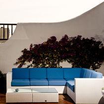 Corner sofa / modular / contemporary / garden