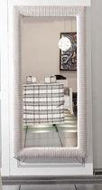 Wall-mounted mirror / contemporary / rectangular / rattan