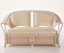 Contemporary sofa / rattan / wicker / fabric