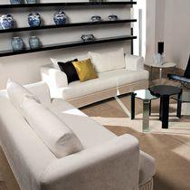 Contemporary sofa / wicker / 2-seater / white