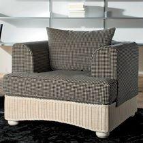 Contemporary armchair / wicker