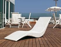 Contemporary lounge chair / resin wicker / indoor / garden