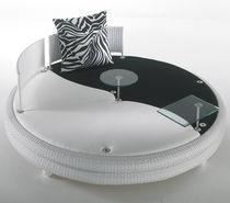 Round sofa / contemporary / garden / resin wicker