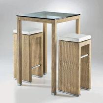 High bar table / contemporary / resin wicker / rectangular