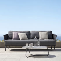 Contemporary sofa / outdoor / fabric / metal