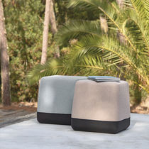 Contemporary pouf / fabric / outdoor / commercial