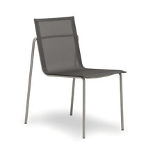 Contemporary garden chair / stackable / stainless steel