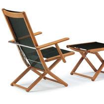 Traditional armchair / wooden / adjustable / garden