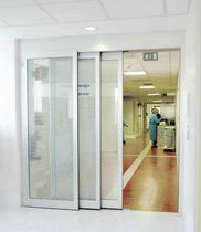 Sliding entry door / aluminum / automatic / glazed