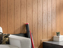Wall-mounted paneling / MDF / wooden / matte