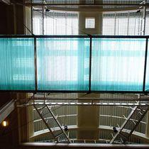 Textured glass panel / roof / transparent