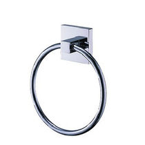 Towel ring / wall-mounted / chrome / brass