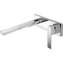 Washbasin mixer tap / built-in / metal / bathroom