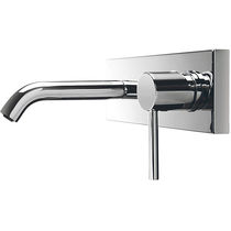 Washbasin mixer tap / built-in / chromed metal / bathroom