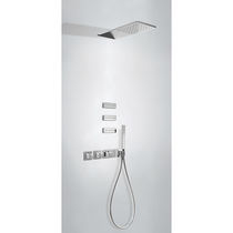 Recessed wall shower set / contemporary / with hand shower / thermostatic