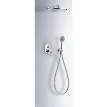 Recessed wall shower set / contemporary / with hand shower / with adjustable shower head