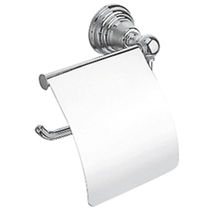 Wall-mounted toilet paper dispenser / chromed metal / commercial