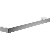 1-bar towel rack / wall-mounted / metal